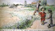 Boy and girl Carl Larsson