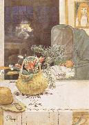 Gunlog without her Mama Carl Larsson