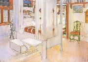 My Bedroom Watercolor Carl Larsson