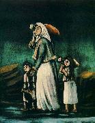A Peasant Woman with Children Going to Fetch Water Niko Pirosmanashvili