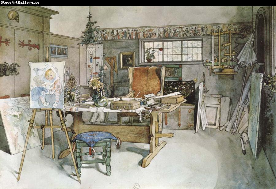 Carl Larsson One Half of the Studio