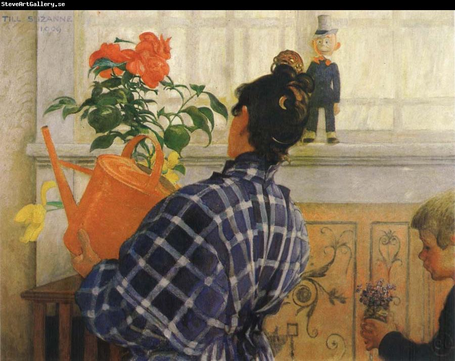 Carl Larsson The Artist-s Wife and Children