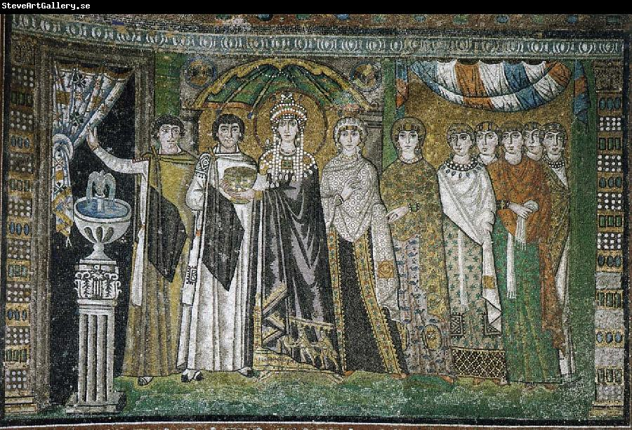 justinian bishop and attendants